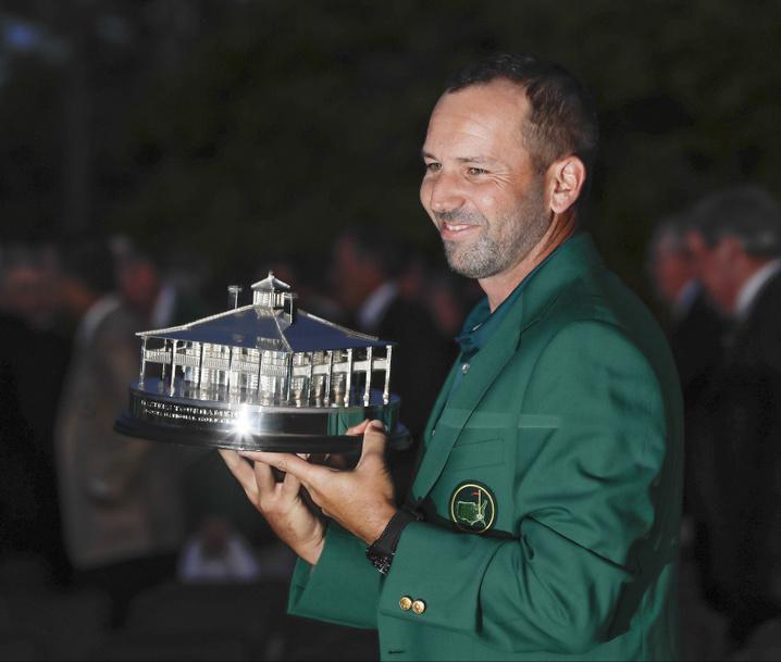 Sergio García en el Masters Augusta de Golf 2017