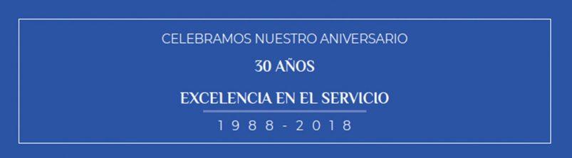 30 años de excelencia de en el servicio